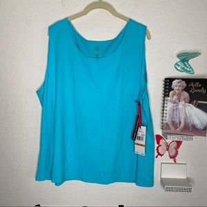 Ruby Rd: Tank Turquoise color